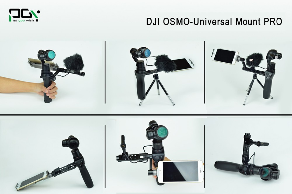 PGY DJI OSMO Straight Extension Arm For 4K Camera and 3-Axles Handheld Gimbal Quadcopter drone non original Fpv rc accessories