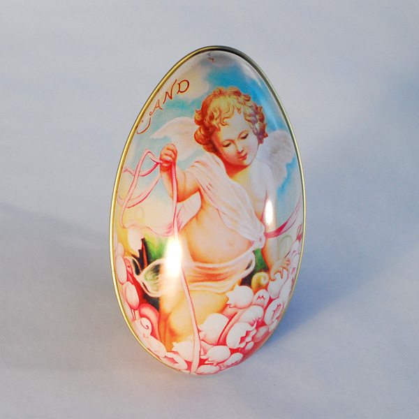 11cm*6.5cm*7cm 3 Angel Design Egg Tin Packing Box Candy, chocolate Wedding special days - Ningbo Huahui Co.,ltd store