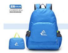 Lightweight Foldable Waterproof Nylon Women Men Children Casual Backpack Travel Outdoor Sports Camping Hiking Cycling School Bag(China (Mainland))
