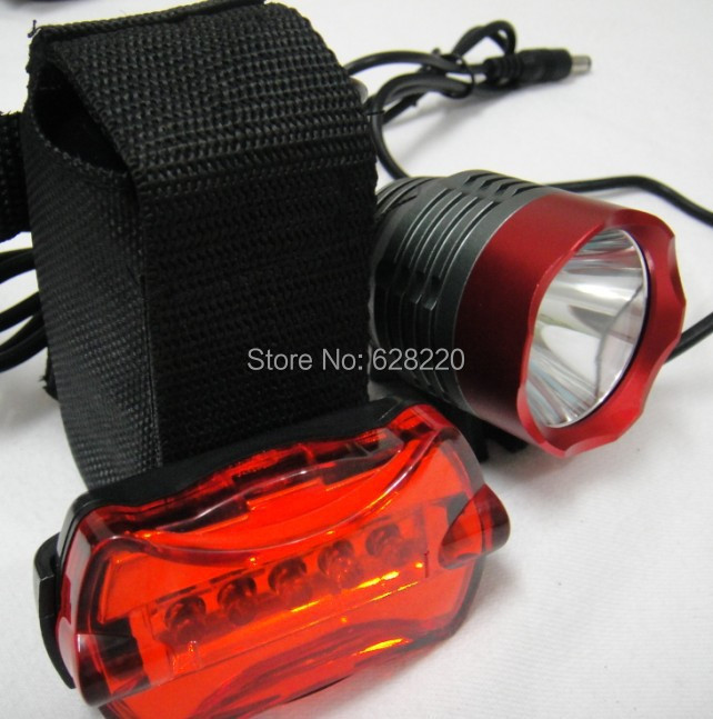 Red 1800 Lumens CREE XM-L T6 LED Cycling Head Front Bike Bicycle Light Lamp Rear 8.4v 6400mAh battery Charger - your & us store
