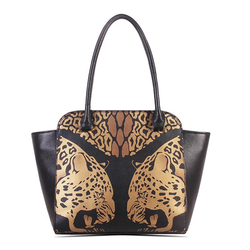 2015 The New Style Original Leather Cheetah Printed Series Single Shoulder Bag(China (Mainland))