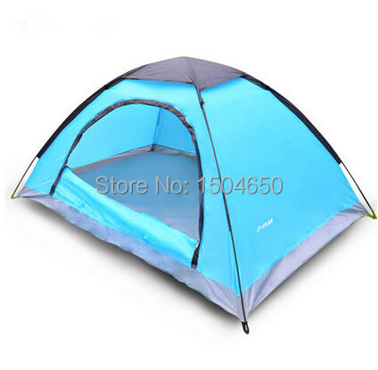 New Arrivals Top Quality Camping tent 3-4 People tents Unti UV Monolayer Relaxation Tent Free Shipping(China (Mainland))