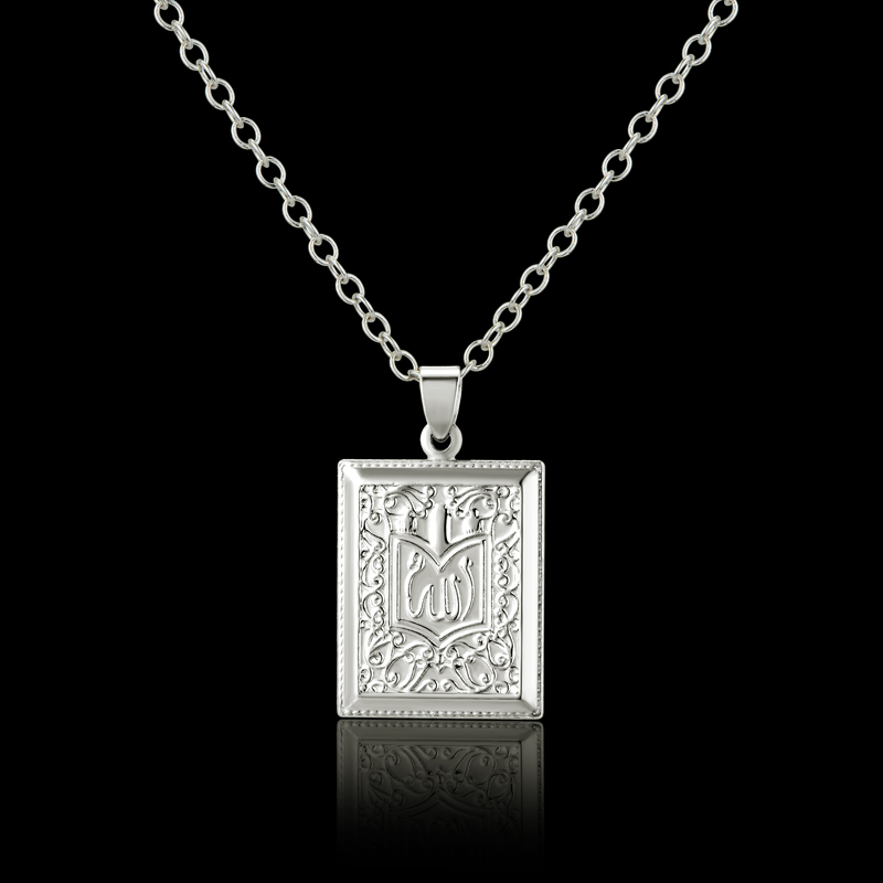 Classic Allah Pendant Necklace Wholesale Silver Plated Embossing Arabic Jewelry Muslim Women Men Christmas New Year Gift(China (Mainland))