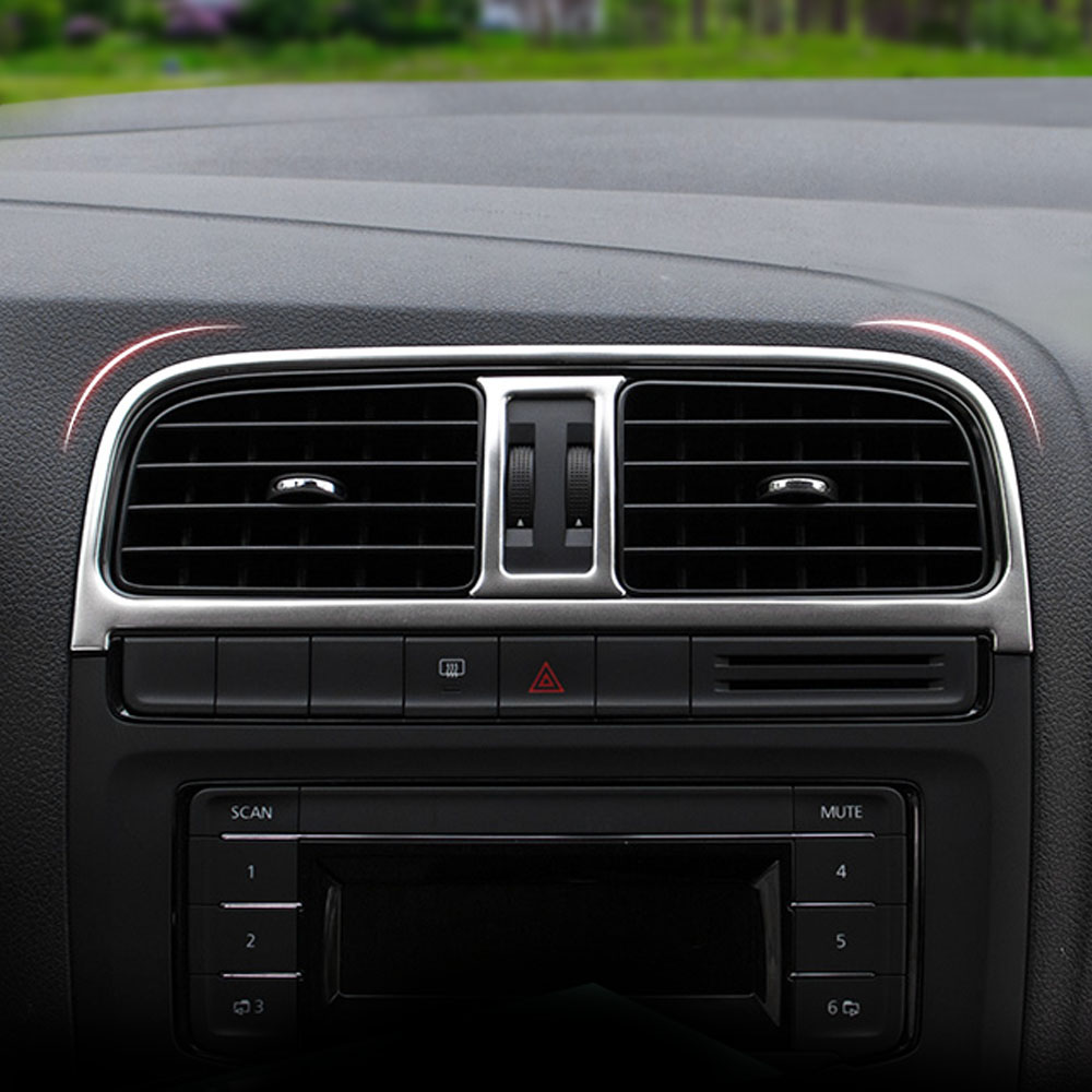 nuevo diseo de acero inoxidable ajuste de la decoracin interior del coche salida de aire