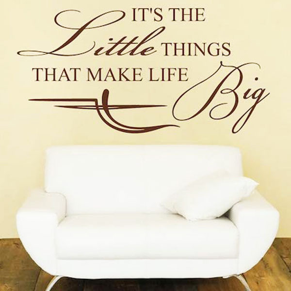 It s the little things that make life big inspiring vinyl for When was it s a wonderful life made