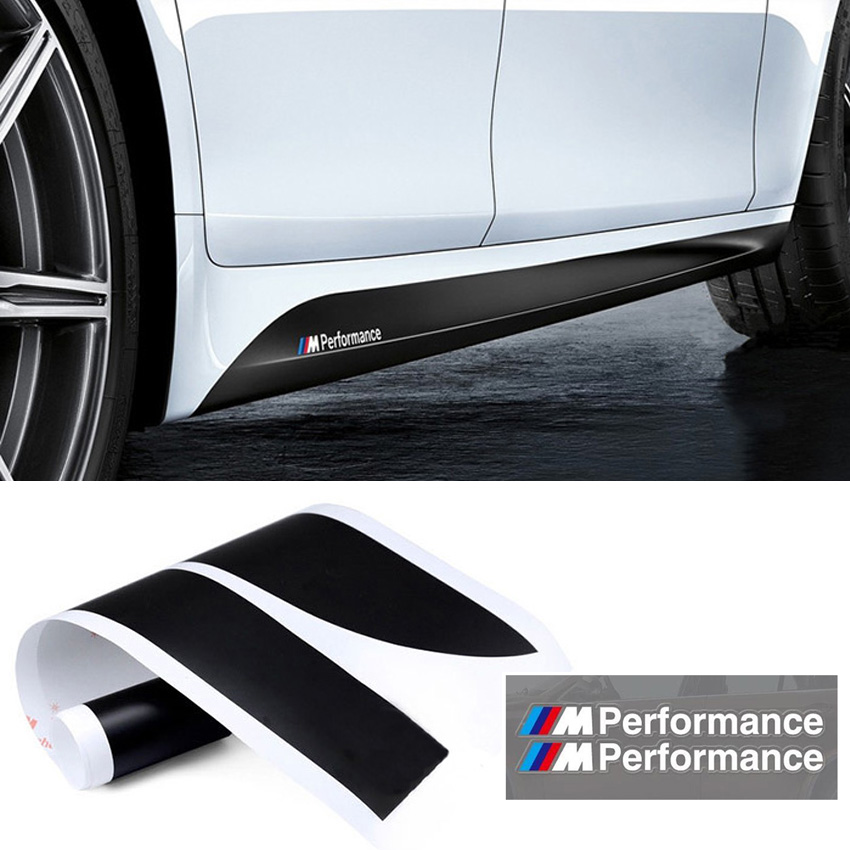 Car Styling M Performance Side Skirt Stripe Sticker Body