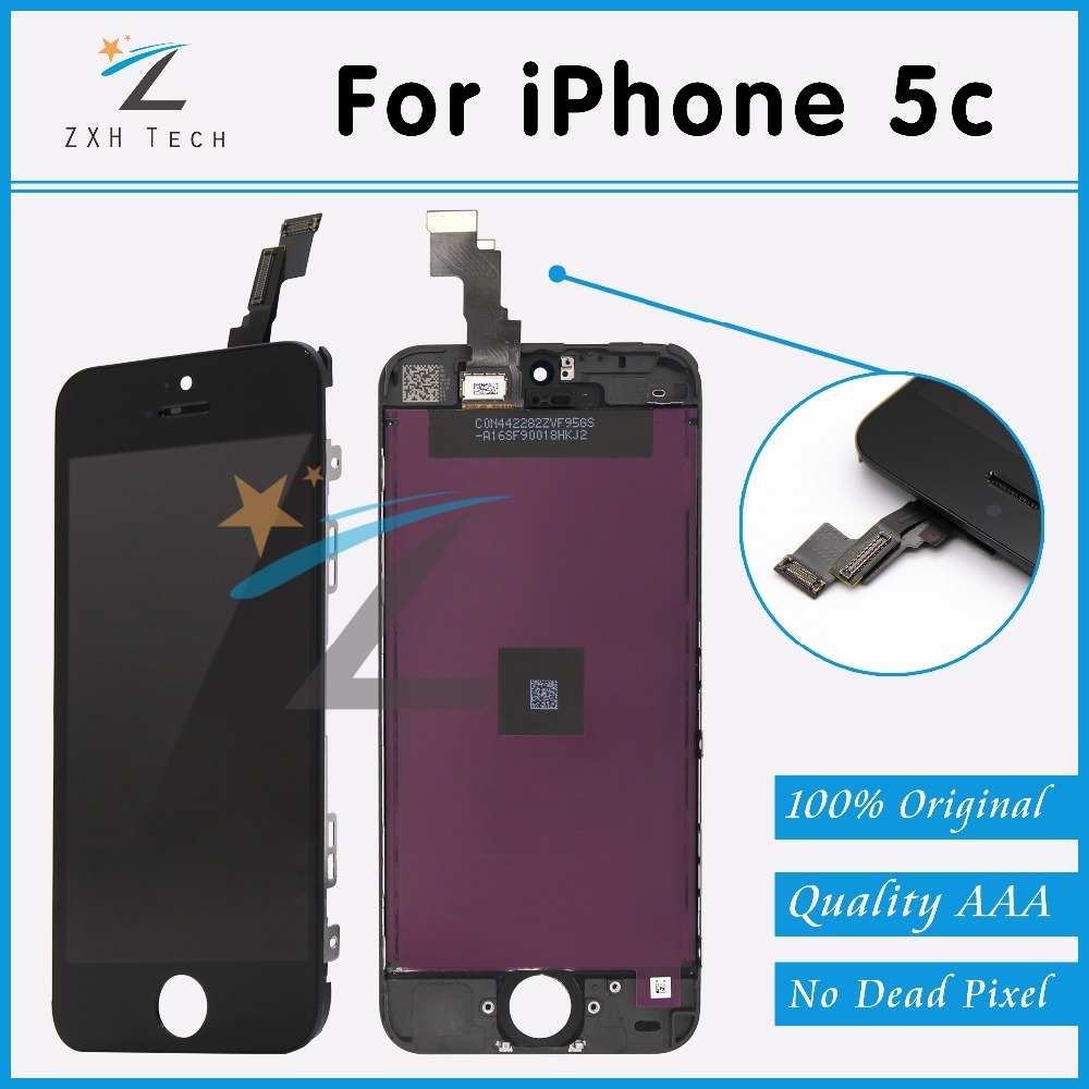 10 PCS/LOT Grade A++++ Quality for Black iPhone 5C LCD Screen Display with Touch Digitizer and Frame Assembly for iPhone 5C LCD(China (Mainland))