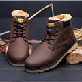New Plus Velvet Keep Warm Men Boots Winter Warm Snow Boots Martin Boots Men Fashion High
