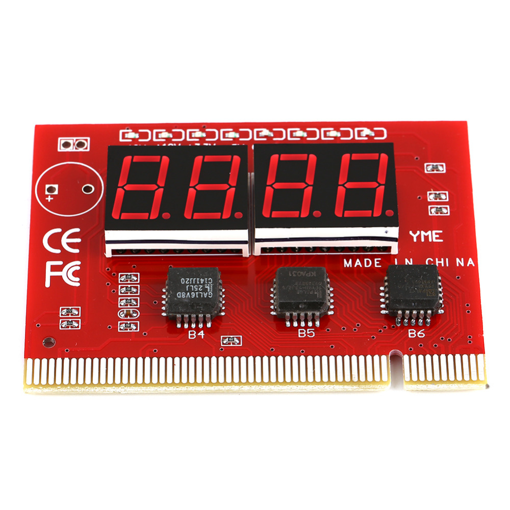 Computer Motherboard LED 4 Digit Analysis Diagnostic Test POST Card PCI High Quality(China (Mainland))