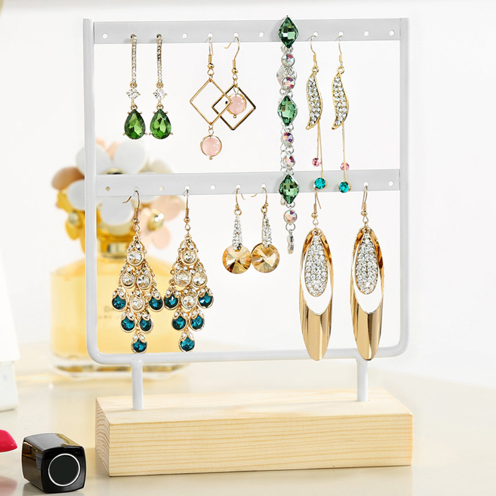 24/44 Holes Earrings Organizer Holder Necklaces Jewelry Display Stand