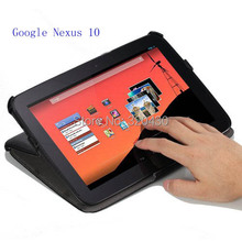 For Google Nexus 10 (by Samsung) smart cover  Case with Slim-Fit Multi-angle Folio,NEXUS 10  case with Magnetic Sleep / Wake