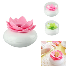 Amazing New Lotus Flower Cotton Bud Holder Toothpick Holders Cotton Swab Box Table Decoration Accessories(China (Mainland))
