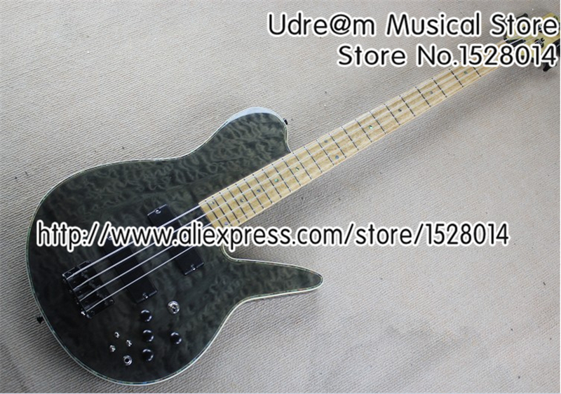 New Arrival 4 String Chinese Electric Bass Guitars Birdseye Fingerboard For Sale(China (Mainland))