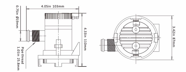 SEAFLO Non Automatic 12V 600GPH Submersible Bilge Pump