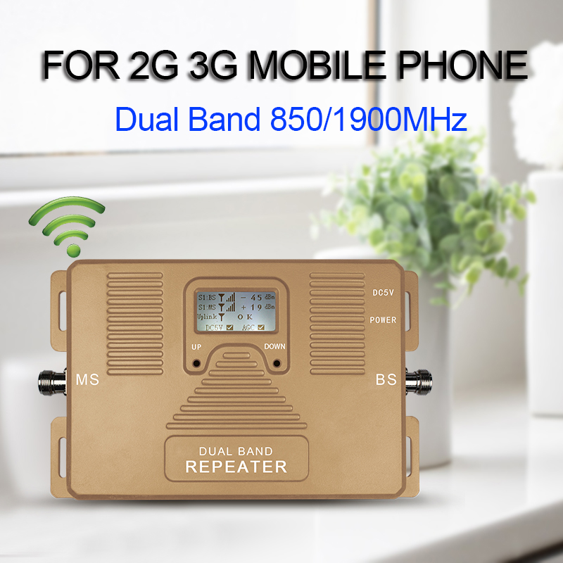 Special offer! Dual band 850&1900mhz GSM 3g home use signal booster, only cellphone amplifier/ repeater with plug(China (Mainland))