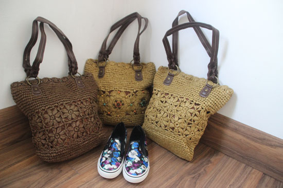 2016 summer straw women's handbag woven beading shoulder bag paper rope beach bag()