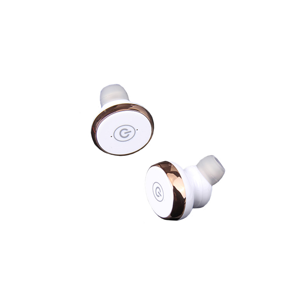TTLIFE Mini Invisible Wireless V4.1 Earbud Stereo Sweatproof Earphone with Mic for Phones Built-in Audio Processing System