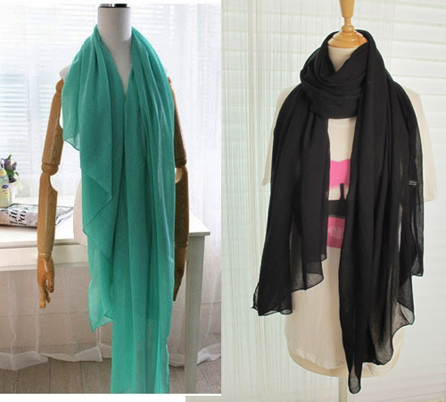 NEW hot Fashion Style Scarves Autumn and Spring Warm Solid Color All-match Pleated Muslim Hijab Female/Women Scarf Shawl(China (Mainland))