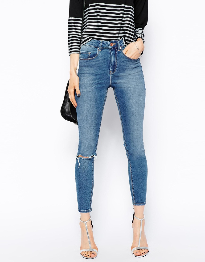 Ripped High Waisted Jeans For Cheap