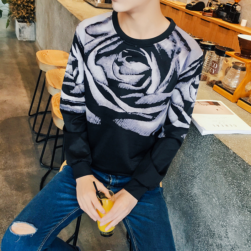Yeezy 2016 Fall Clothing New Arrival Men'S Long-Sleeved T Shirt Printing T-Shirts Fashionista Big Yards M-5XL A109(China (Mainland))