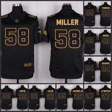 The 50 anniversary black gold men Elite Denver Broncos 88 Demaryius Thomas 58 Von Miller 43 T.J. Ward 84 Shannon Sharpe(China (Mainland))