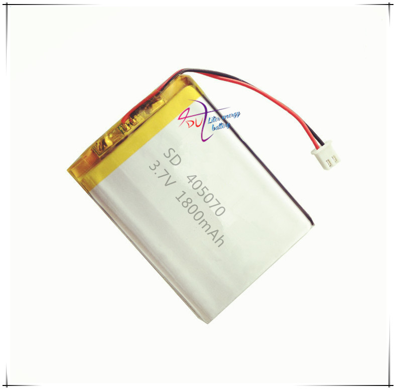 XHR-2P 2.54  1800mAh 415068 3.7V lithium polymer battery 405070 flash shoe GPS mobile phone reading machine