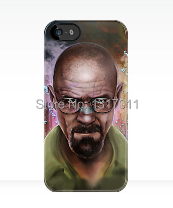 Custom design Breaking bad Heisenberg white and black black hard case cover for iphone 4 4s 5 5s 5c 6 plus(China (Mainland))