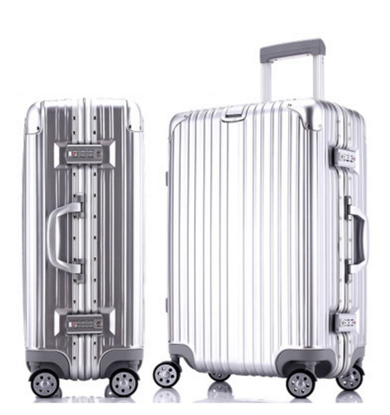 20 inch 51cmx41cmx23cm Aluminum frame abs and pc Case 4 wheels trolley Solid travel luggage or suitcase for unisex(China (Mainland))
