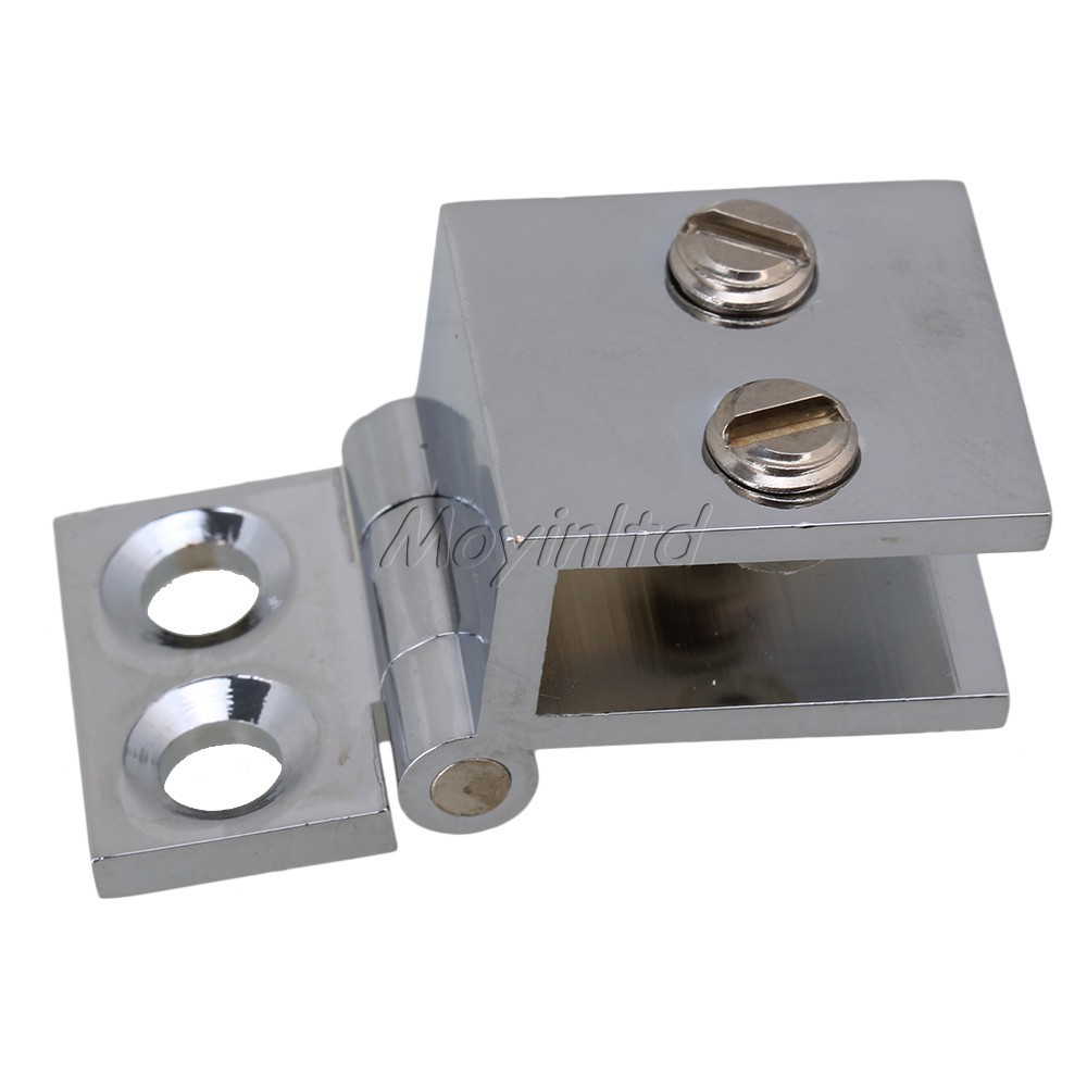 Metal Bathroom Shower Door Silver Metal Wall to Glass Clamp Hinge(China (Mainland))