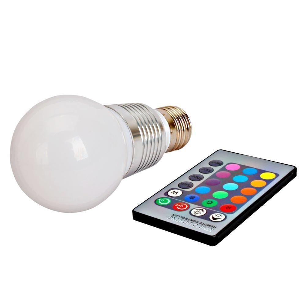 3w E27 Rgb Led Light Bulb Lamp 16 Color Changing 85 265v Ir Remote Control In Led Bulbs
