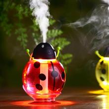 New Mini USB Portable Ultrasonic Beetles Humidifier Air Diffuser Mist Maker DC 5V ABS Bottle Led Light For Home Office Car(China (Mainland))