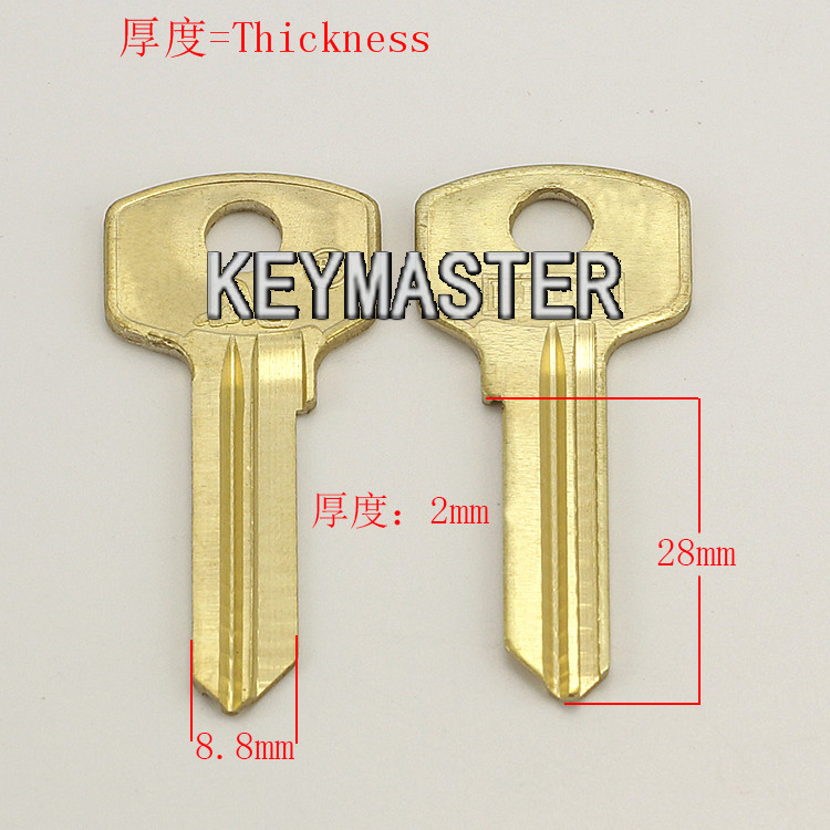 A068 Wholesale Locksmith Keymaster Brass House Home Door Blank Key Blanks Keys<br><br>Aliexpress