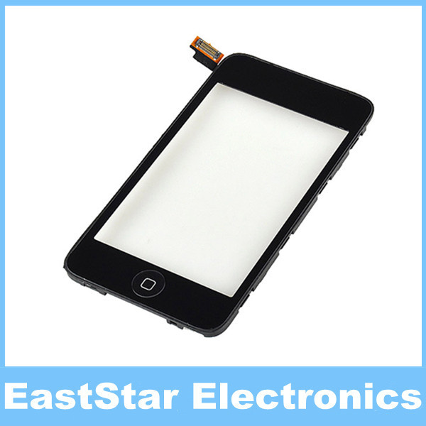 10pcs/lot,Touch Screen Digitizer with Home Button & Frame Assebmly for iPod Touch 2 Replacement(China (Mainland))
