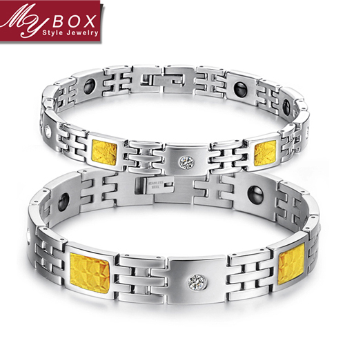 Wholesale Hot Sale Healthcarbon Fiber Chain Women's Men's 316 Titanium Steel Bracelets For Women Men(China (Mainland))