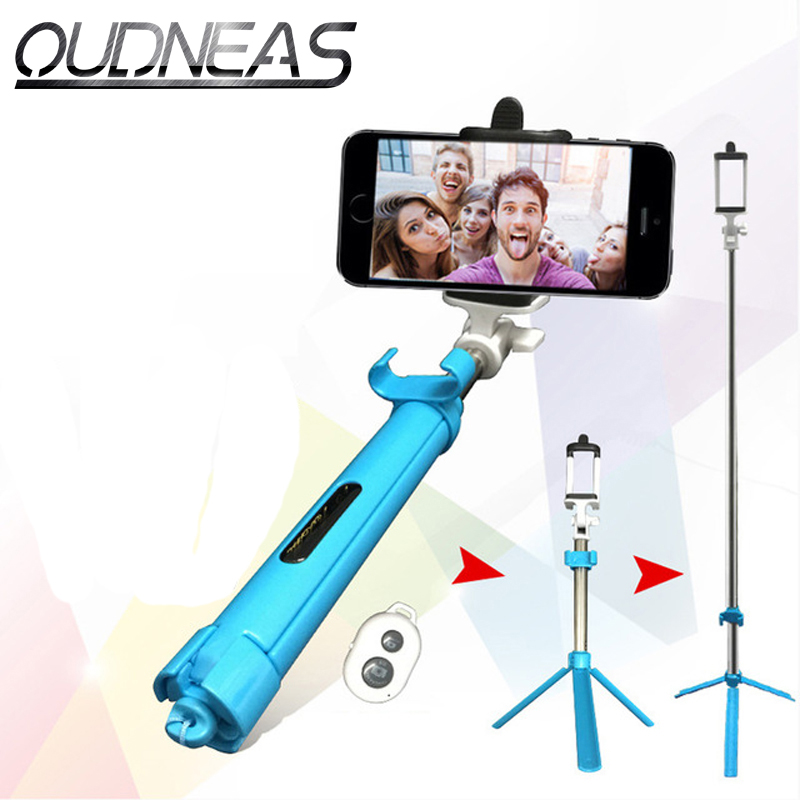 universal bluetooth selfie stick tripod shutter wireless monopod for iphone 7 7 plus 5 6 6s. Black Bedroom Furniture Sets. Home Design Ideas