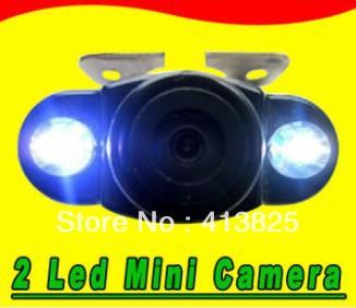 CCD Mini car rear view camera back up reverse with LED car camera NTSC Waterproof free shipping(China (Mainland))