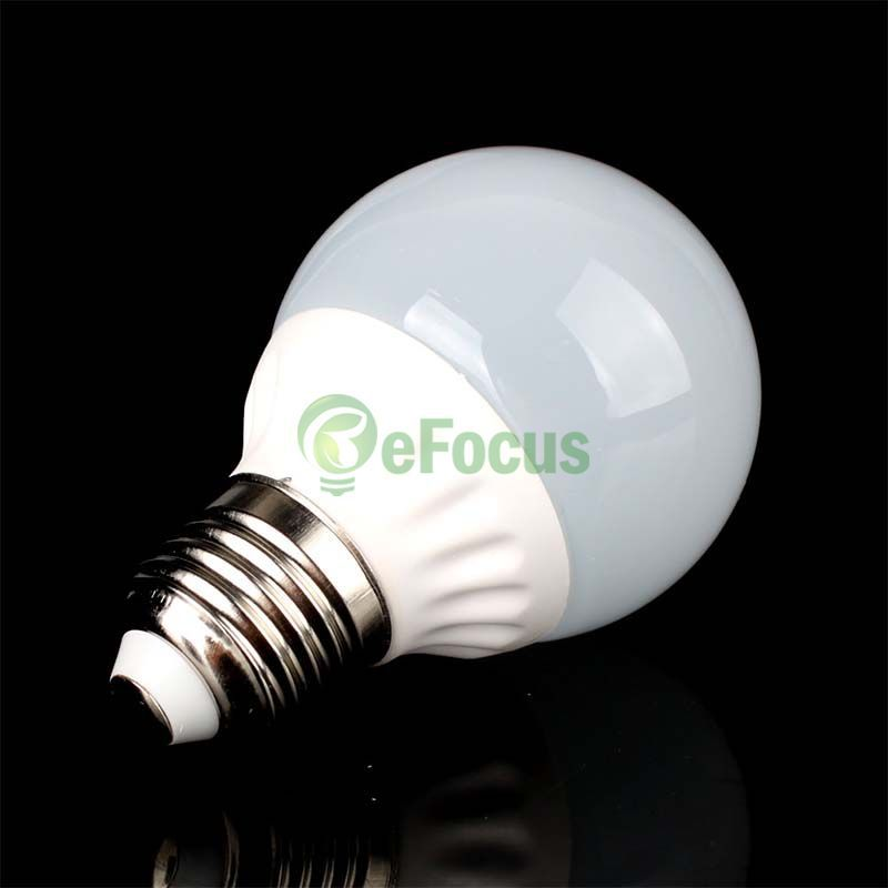 E27 5W LED Ceramic Cover Light Bulb Globe Lamp Warm Pure White 220V HF #65650(China (Mainland))