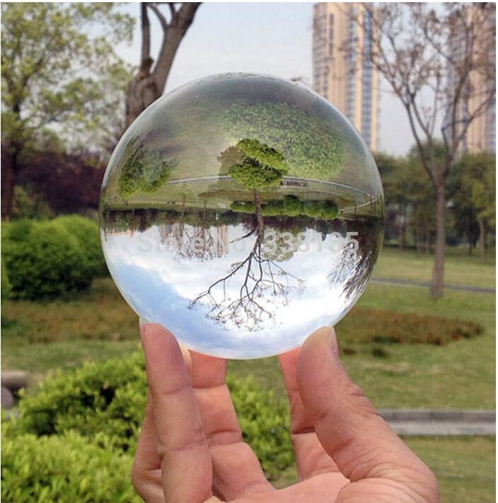 80mm Rare Clear Asian Quartz feng shui ball Crystal Ball Sphere Fashion Table Decor Good Luck Ball Free Shipping(China (Mainland))