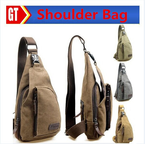 2015 Casual Outdoor Travel Hiking Sport Casual Chest Canvas Male Vintage Men Messenger Bags Small Retro Military Shoulder Bag(China (Mainland))