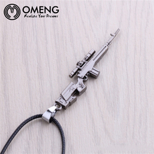 Buy OMENG Hot Cross Fire AWP Sniper Model Metal Necklaces Cool CF CSGO Alloy Weapon Gun AWP Necklace Men CS GO Jewelry OXL343 for $1.83 in AliExpress store