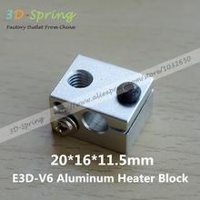 5 шт./лот 3D аксессуары для принтеров новый E3D V6 полностью металлический экструдер специальное отопление алюминия блок пескоструйная окисления лечение