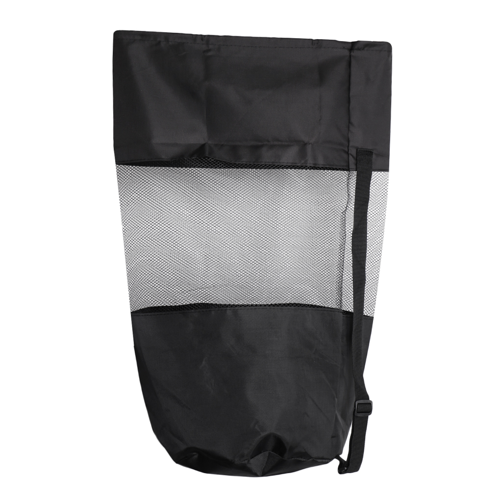Compact Drawstring Mesh Gear Bag Shoulder Backpack for Scuba Diving Snorkeling Swimming 70.5 x 43 cm