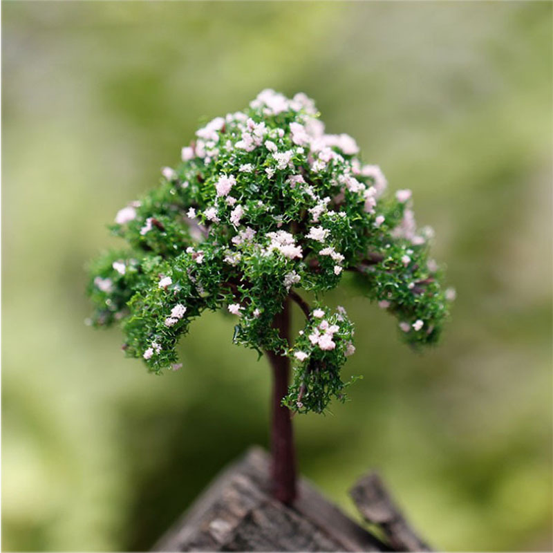 Micro Potted Plants Decorations Radermachera Sinica Simulation Trees and Flowers Ornaments Creative Crafts Flower Garden(China (Mainland))