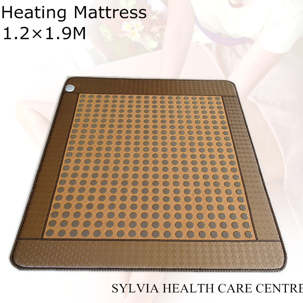 Infrared Heat Therapy Healing Natural ochre stone heating mattress Yellow mesh heat Mat / Pad 1.2X1.9M