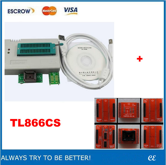 Mini Pro TL866CS High-Performance Universal USB Programmer + TSOP48/TSOP40/TSOP32 adapter IC sockets(China (Mainland))
