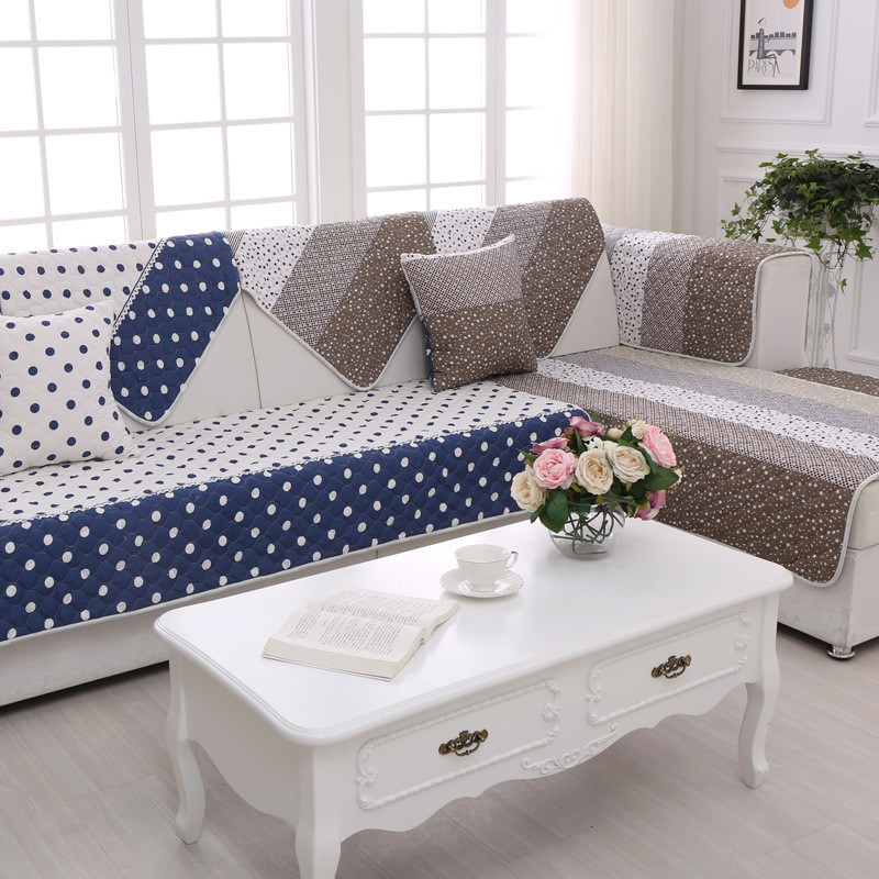 Two side printed polyester sofa cover modern couch cover unversial case for s - Canape patchwork cinna ...