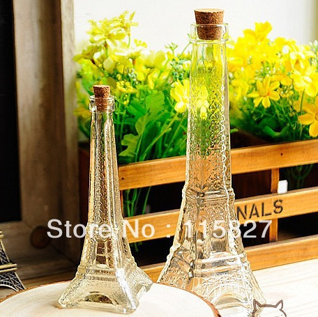 Min order$20(mixed items) La Tour Eiffel Eiffel Tower flowe vase perfume bottle house decoration glass bottle photo accessory(China (Mainland))