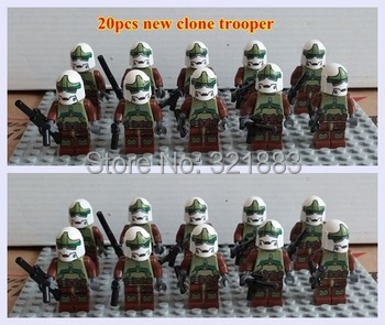 2 *SY198* newest STAR WAR green Clone Troopers soldier Minifigures plastic Building blocks action toys - F & C Store store