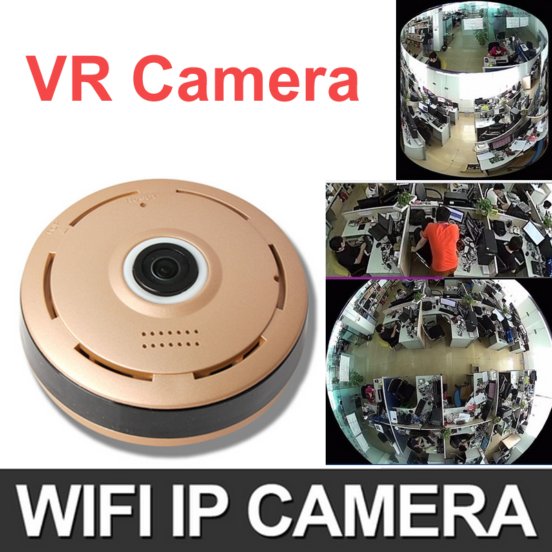 HD 960P 360 Degree Panorama Camera Wifi HD VR IP Camera CCTV Remote Control Security Surveillance Camera P2P Indoor VR camera(China (Mainland))