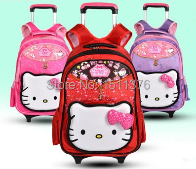 school bags Children trolley backpack mochila infantil Princess Korean girl hello kitty cat girls - Top Selling Best Store store